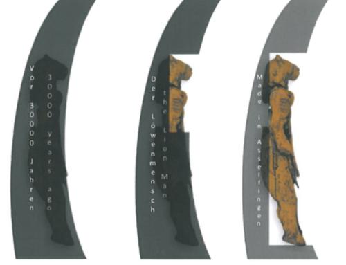 """Gemeinde Asselfingen: Erstellung einer Gesamtstrategie und eines Corporate Design """"Der Löwenmensch"""" sowie Erstellung von Ortseingangsportalen im Zusammenhang mit dem UNESCO – Welterbe """"Höhlen und Eiszeitkunst der Schwäbischen Alb"""""""